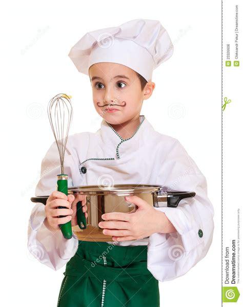 le petit chef cuisine petit chef avec l 39 ustensile de cuisine photo stock image 23326608