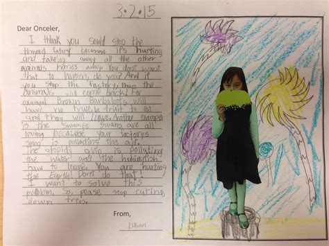 grade persuasive writing  read  lorax
