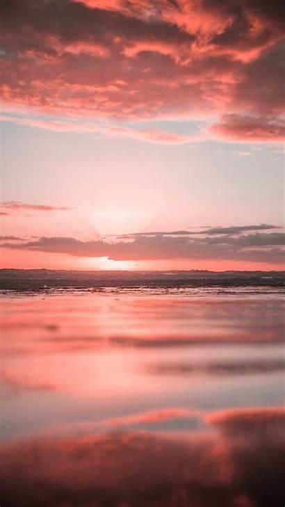 Ocean Sunset Iphone Water Wallpapers Clouds Unsplash