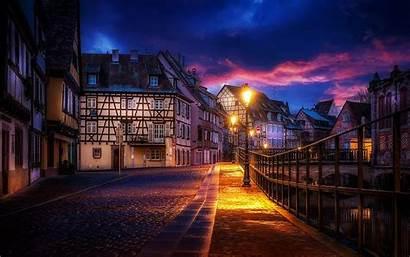 Street Lights Evening Wallpapers Lantern Desktop Town