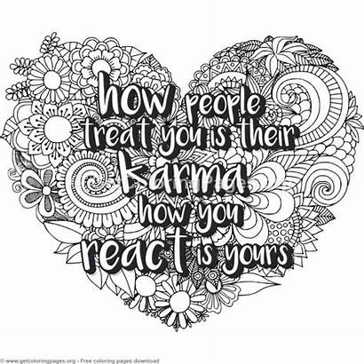 Coloring Pages Zentangle Heart Quote Adult Treat