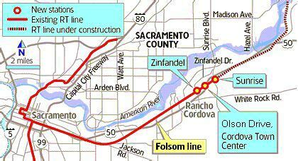 sacramento light rail map transportation in sacramento county california