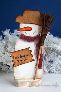 Basteln Mit Holz Weihnachten : basteln f r weihnachten holz schneemann it s snow time ~ Whattoseeinmadrid.com Haus und Dekorationen