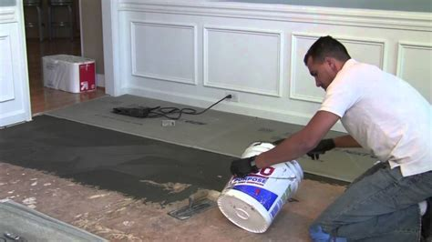 How to install backer board/durock for floor tile   YouTube