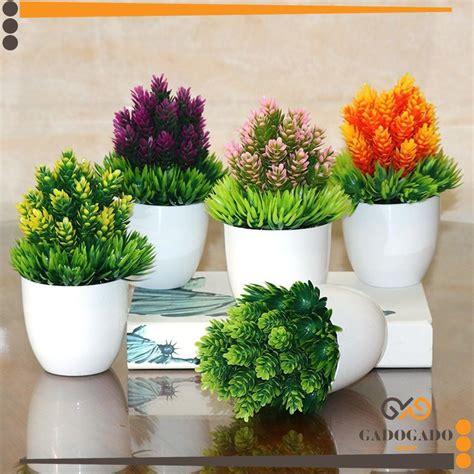 bunga daisy artifisial pot magenta smartk design