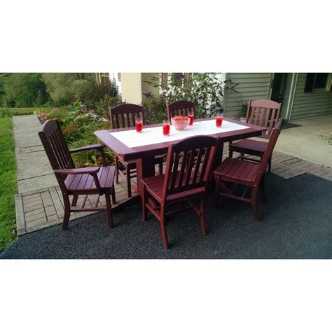 poly 72 quot rectangle table set