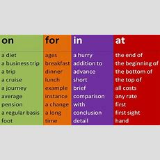 Top Prepositional Phrases  On, For, In, At, By, Out, To Prepositions In English Grammar