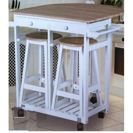 table de cuisine retractable table cuisine bar sur roulettes 2 tabourets achat