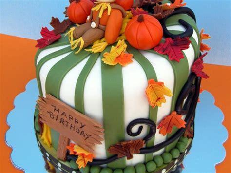fall birthday cakes    recreate