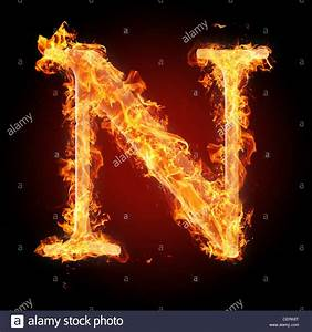 Letter N in fire. For more words, fonts and symbols see my ...