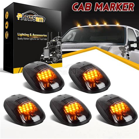 Smoke Cab Roof Marker Lights Yellow For