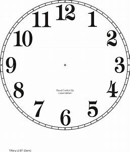 free clock dials With clock face templates for printing