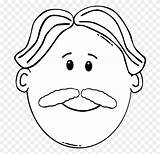 Clipart Coloring Moustache Beard Cartoon Daddy Mustache Clip I2clipart Transparent Cliparts Domain Netclipart sketch template