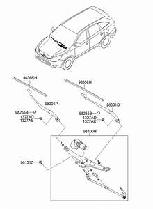 2011 Hyundai Veracruz Blade Assembly - Wiper  Passenger Side  Oct  Electrical