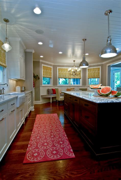 bloombety modern kitchen color schemes with pink mat rug designer pink kitchen runner