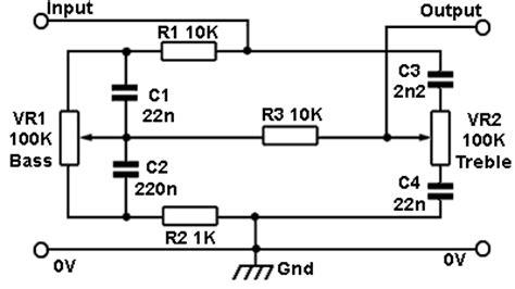 Baxandall Tone Control Circuit Guitar Making