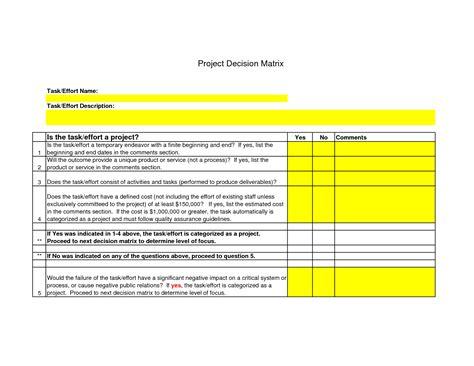 Decision Matrix Template Free by Pugh Matrix Template 28 Images Decision Matrix