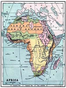 Instant Art Printable - Vintage Map of Africa - The