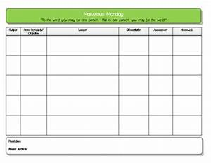 daily lesson plan template 5 subject pdf by lady kay tpt With daily five lesson plan template