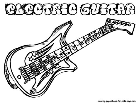 guitar printable coloring pages