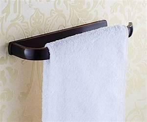 elloallo oil rubbed bronze towel bars for bathroom With non rust bathroom accessories
