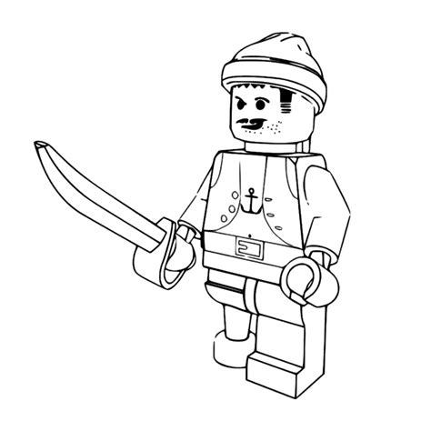 Kleurplaat Lego Poppetje by Leuk Voor Lego Piraat