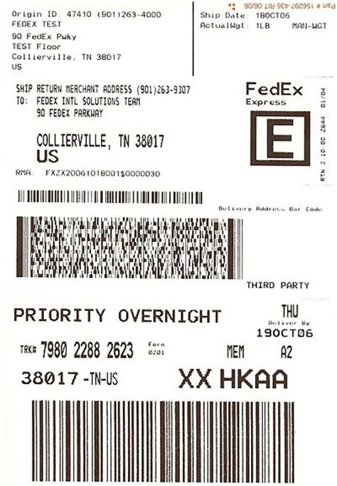 Fedex Label Template Word by Fedex Mailing Label Made By Creative Label