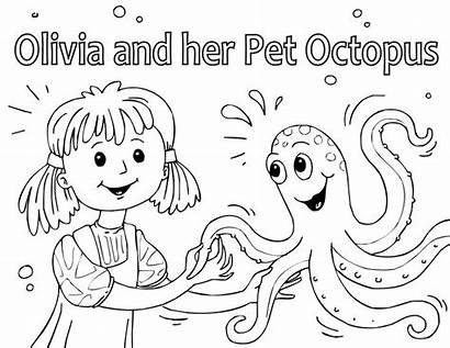 Short Coloring Printable Stories Books Story Octopus