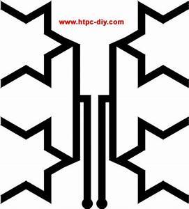 diy flexible fractal window hdtv antenna diy pinterest With hdtv antenna template