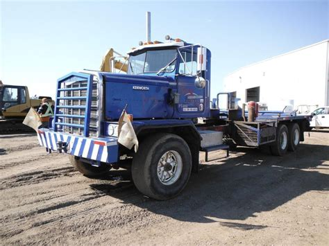 used 1985 kenworth c500 t a flatbed truck for sale