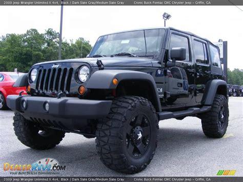 jeep dark gray 2009 jeep wrangler unlimited x 4x4 black dark slate gray