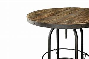 Table Haute En Bois : table haute de bar industrielle tm04 rose moore ~ Dailycaller-alerts.com Idées de Décoration