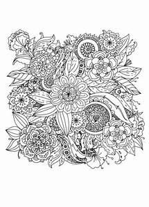 Blumen Malen Fuer Erwachsene Erwachsene Ausmalen