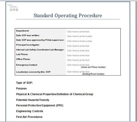 free standard operating procedure template word 2010 37 best standard operating procedure sop templates