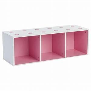 Meuble De Rangement Cube : meuble de rangement empilable 3 cubes abc rose ~ Melissatoandfro.com Idées de Décoration