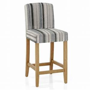 Chaise Velours Gris : chaise de bar bois velours carter ray gris et bleu monde du tabouret ~ Teatrodelosmanantiales.com Idées de Décoration