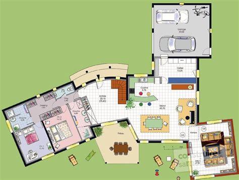 plan maison plain pied 120m2 4 chambres vaste villa dé du plan de vaste villa faire