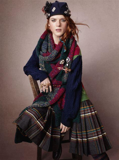 p: Scott Trindle / m: Rose Leslie / UK Vogue, April 2013 ...
