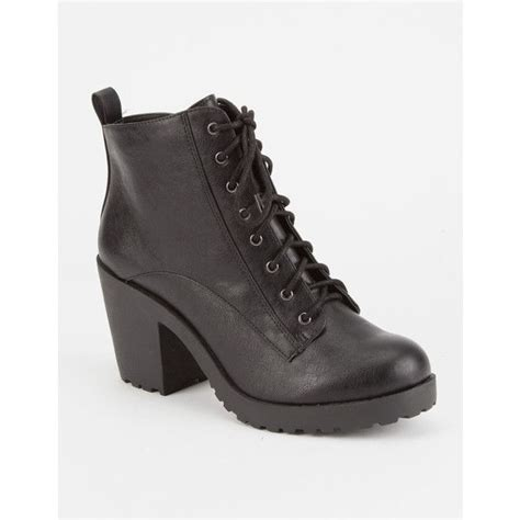 soda lace womens heeled combat boots polyvore