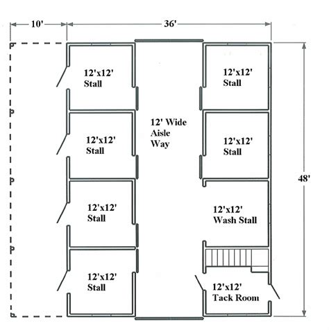 Free Loafing Shed Plans For Horses by Horse Barn Floor Plan Layout Tips