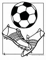Football Coloring Pages Ball Printable Soccer Getcolorings sketch template