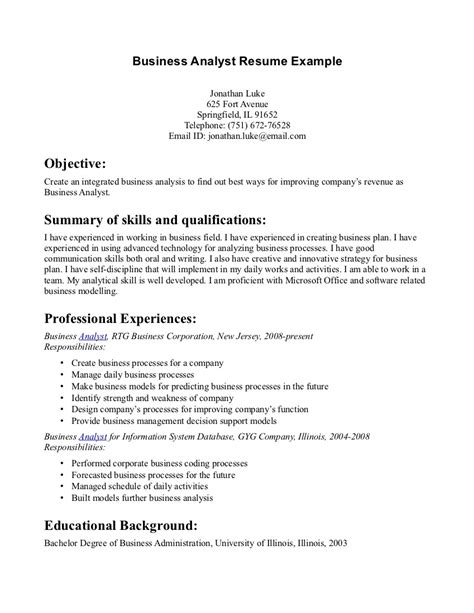 business admin resume business admin resume free excel templates