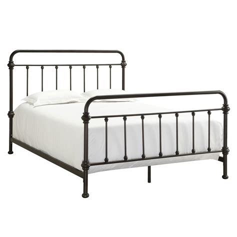 Metal Bed Frame Queen Iron Antique Victorian Style Dark