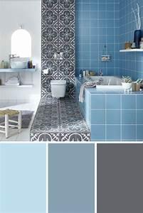 Association Couleur Gris : on craque pour cette association de couleurs bleu clair bleu gris et ardoise dans la salle de ~ Melissatoandfro.com Idées de Décoration