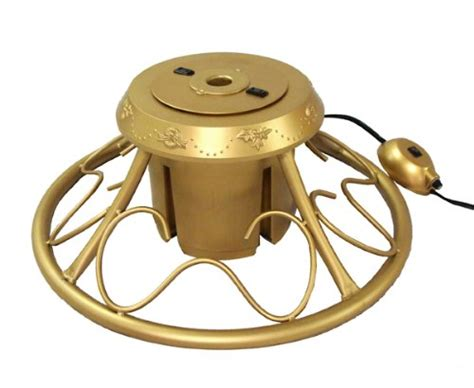heavy duty fancy gold metal rotating artificial christmas