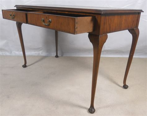 queen anne writing desk queen anne style walnut writing table desk sold