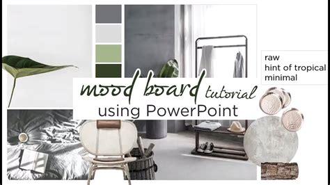 create  interior design mood board