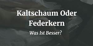 Federkern Oder Kaltschaum : kaltschaum oder federkern was ist besser matratzen guru ~ Avissmed.com Haus und Dekorationen