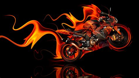 kawasaki side super fire abstract bike  el tony