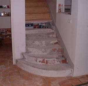 Habillage Escalier Bois : menuiserie escalier 01 habillage renovation vue de face avant ~ Dode.kayakingforconservation.com Idées de Décoration